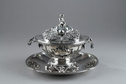 Silver Oille Tureen by Emile Hugo.