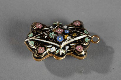 GOLD AND ENAMEL VINAIGRETTE. <br/>