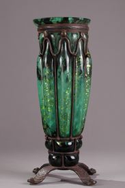 Daum and Majorelle Vase.  Art Deco Period.