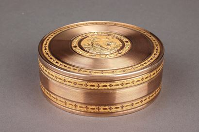 Large gold candy box 18th Century.