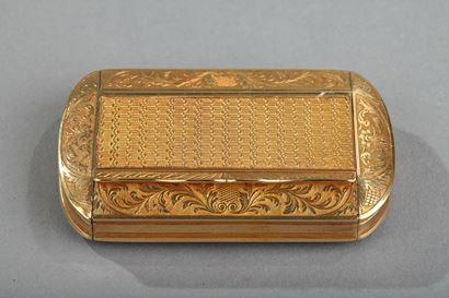 Gold Snuff Box, Restauration Period circa 1820-1830.
