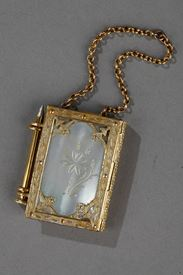 Charles X Dance Card In Mother Of Pearl And Bronze. Circa 1820.