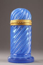 Early 19th Century Blue Opaline Box.