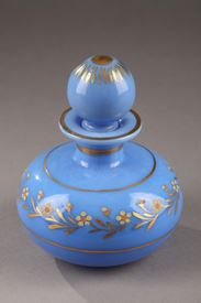 A Blue Opaline Crystal Flask. Charles X. Circa 1820-1830