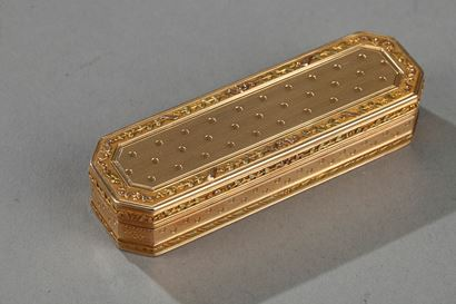Gold case. End 18th century.
