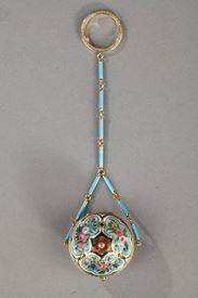 French Restauration GOLD AND ENAMEL VINAIGRETTE.