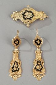 Mid-19th Century Gold set with enamel. Napoleon III