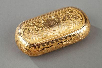 GOLD SNUFF BOX.  CIRCA 1820-1830.