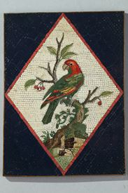 Late 18th Century Micromosaic with Parrot on a branch. From a Model by G.Raffaelli.