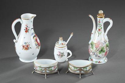 18th century opaline set.