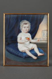 Miniature sur ivoire dans un cadre or, signée DAGOTY 1820.