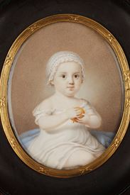 Early 19th Miniature in ivory.