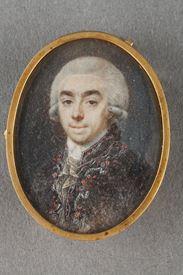 Miniature on ivory late 18th century.