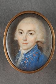 Portrait of a young man. Louis XVI Period. Signed RIBOUD
