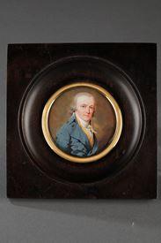 Last 18th Century ivory portrait signed BOUVIER 1793.