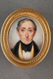 Portrait of David Schickler. Early 19th century miniature on ivory.