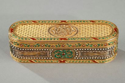 18th century Gold and enamel snuff-box.
