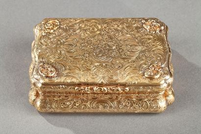 Mid-19th century Hanau Gold Box.