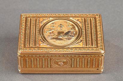 18th century GOLD TOILETRIES BOX. Louis XVI PERIOD