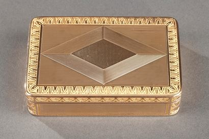 Early 19th century Gold box. Rémond, Lamy, Mercier & Co. à Genève.