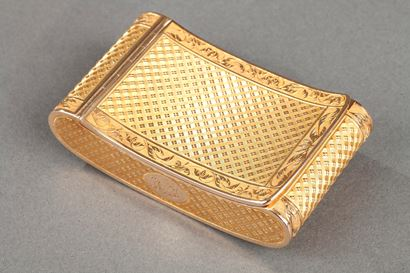 Early 19th Century curved snuff box.