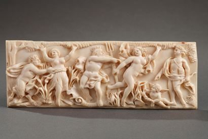 18th Century continental ivory plaque.