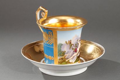 19th Century Porcelain cup with saucer, Moscow.