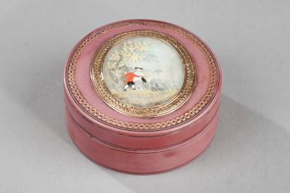 18th-century candy box with miniature.