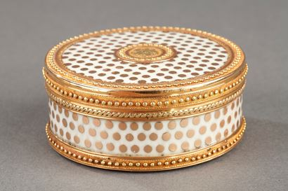 GOLD AND ENAMEL BONBONNIERE.<br/>