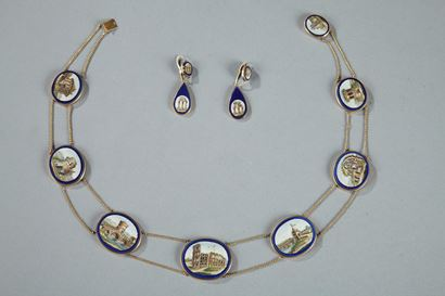 MICROMOSAIC DEMI-PARURE SET.