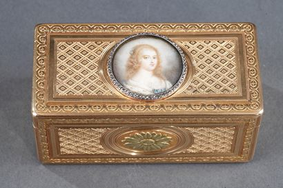 Louis XV GOLD SNUFF BOX WITH MINIATURE. PARIS 1763