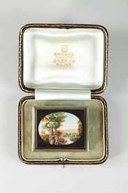 LARGE MICROMOSAIC BROOCH. MID-19TH CENTURY WORK