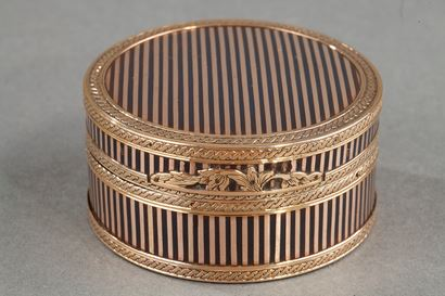 A louis XVI gold-mounted tortoishell snuff-box.