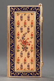 Dance card in gold and enamel Restauration period.