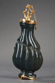 Jasper and Gold Flask 18th Century. English Craftsmanship.