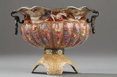 Viennese Silver And Enamel Cup.  19th Century.