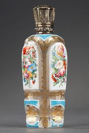 Mid-19th century Bohemian glass scent bottle.