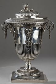 Silver Candy dish. Egyptian style. First Empire.