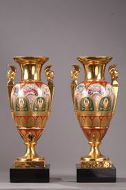 PAIR OF PORCELAIN VASES.<br/>