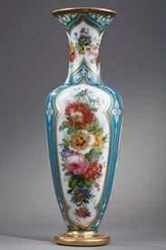 Mid-19th century French opaline vase.