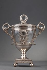 Early 19th century silver confiturier. French Restauration.