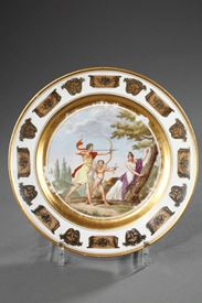 Empire plate by Stone, Coquerel and Legros in Paris.