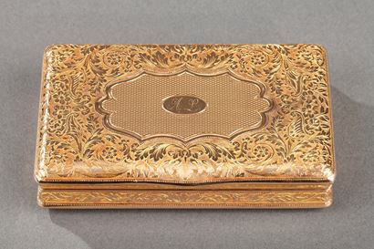 A mid-19th century Gold snuff-box by Louis Tronquoy.