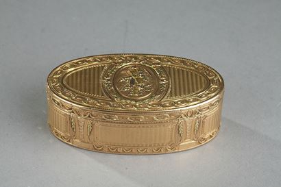 Louis XVI Gold snuff box. 1780.