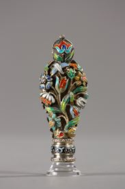 A viennese ENAMELED SILVER SEAL.<br/>