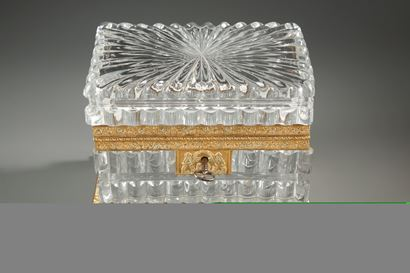 Exquisite Charles X cut-crystal casket.