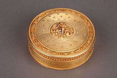 Gold Candy box. Louis XVI period.