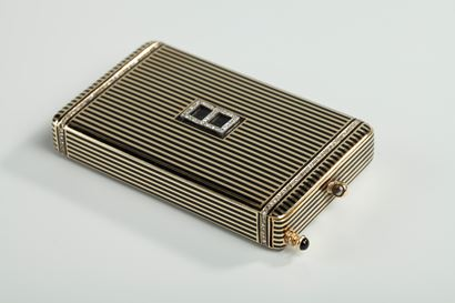 Gold and Enamel Minaudière. <br/>