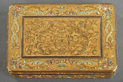 Gold box. Early 19th century. Restauration.