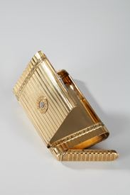 Gold case with diamonds. Henri Husson.